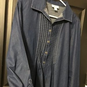 Coldwater creek large shirt button up, gently used